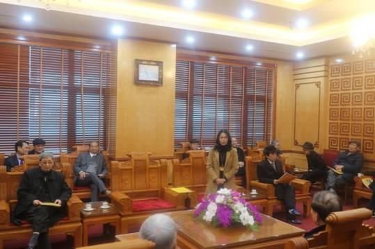 Các đồng chí Lãnh đạo và Nguyên Lãnh đạo tỉnh Bắc Ninh về thăm và làm việc với Trường