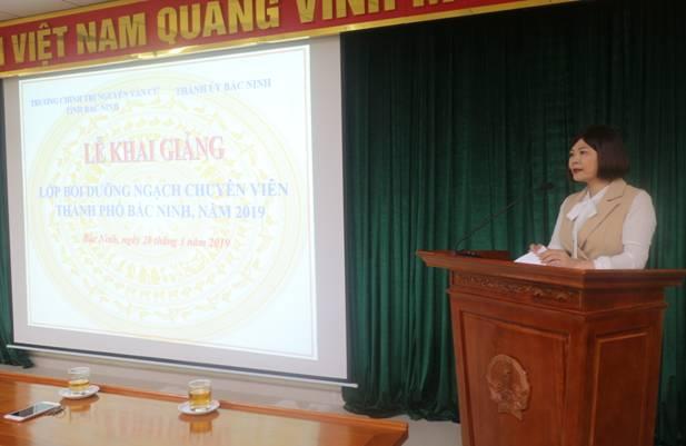 Khai giảng Lớp Bồi dưỡng ngạch Chuyên viên thành phố Bắc Ninh khóa 1, năm 2019