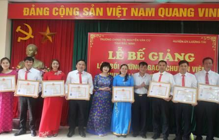 Lễ Bế giảng Lớp Bồi dưỡng ngạch chuyên viên huyện Lương Tài năm 2019